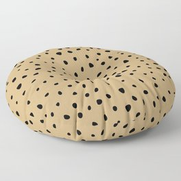 Cheetah Spots animal print minimal wild cat speckles and dots Ginger yellow Floor Pillow