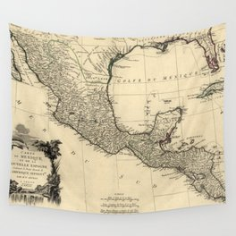 Vintage Map of Mexico (1779) Wall Tapestry