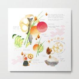 temari sushi Metal Print