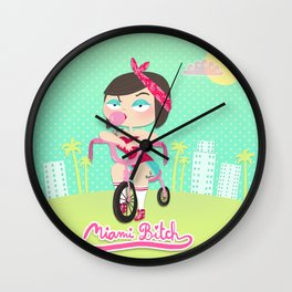 Miami Bitch Wall Clock