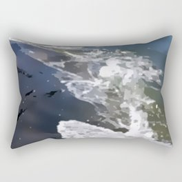 Abstracted waves splashing ashore Rectangular Pillow