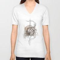 fruit V-neck T-shirts featuring Fruit by Irina Vinnik