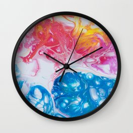 Neon Coral Wall Clock