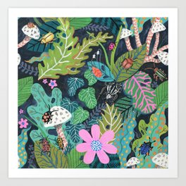 Beetle Pattern Art Print