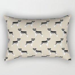 Schnauzer minimal basic dog art pattern design perfect gifts for schnauzers dog breed Rectangular Pillow