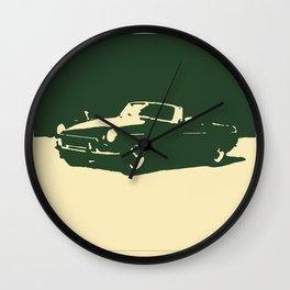 MGB, Racing Green on Cream Wall Clock