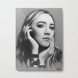 Saoirse Ronan Metal Print