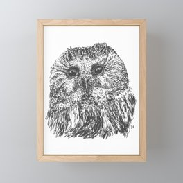 Owlfully Cute Framed Mini Art Print