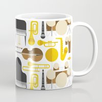 the mortal instruments Mugs featuring Jazz instruments by Ana Linea