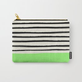 Key Lime x Stripes Carry-All Pouch