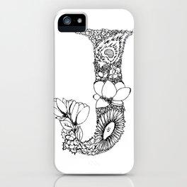 J iPhone Case