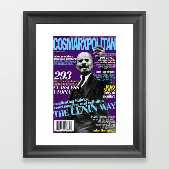 COSMARXPOLITAN, Issue 3 Framed Art Print
