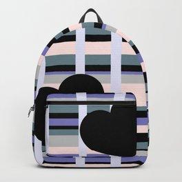Three Black Hearts - Purple Green Backpack