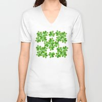 clover V-neck T-shirts featuring Clover Print by UMe Images