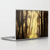 forrest Laptop & iPad Skins featuring The forrest by Richard Eijkenbroek