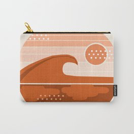 To The Max - retro vibes 70's socal beach waves surfing 1970s throwback minimalist art Carry-All Pouch