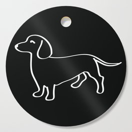 Doxie Love White Cutting Board