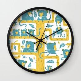 Monkeys Family Wall Clock