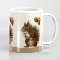 squirrel Mugs featuring Squirrel by Heaven7