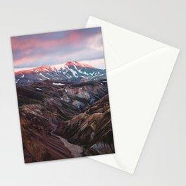 Multicoloured Hills of Landmannalaugar, Iceland Stationery Cards