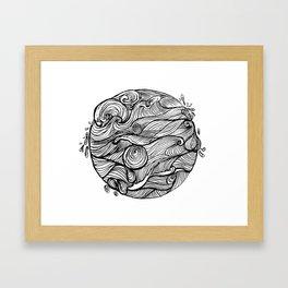Rough sea (our earth) Framed Art Print