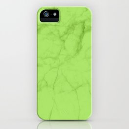Lime Carrara Marble iPhone Case