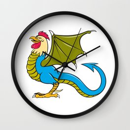 Basilisk Bat Wing Standing Cartoon Wall Clock
