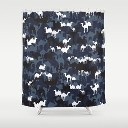 CAMELFLAGE - Special Ops Blue Shower Curtain