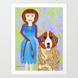 Mutual admiration Art Print