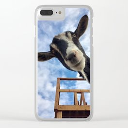 Stella the Goat Clear iPhone Case