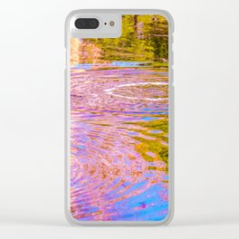Psychedelic Tar Pit Clear iPhone Case