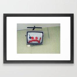 sadtechno Framed Art Print