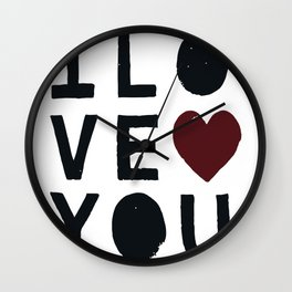 I LO VE YOU Wall Clock