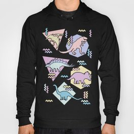 Nineties Dinosaurs Pattern  - Pastel version Hoody