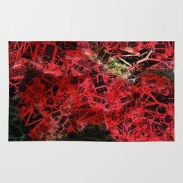 Mottled Red Poinsettia 1 Ephemeral Letters 2 Rug