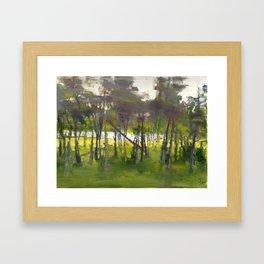 Trees in Motion Framed Art Print