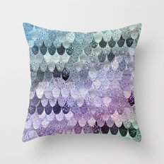 SUMMER MERMAID - HAPPY RAINBOW Throw Pillow