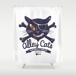 Alley Cats Shower Curtain