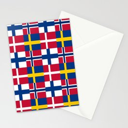 Flags of scandinavia 2: finland, denmark,swede,norway Stationery Cards
