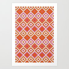 Macrame Red Art Print