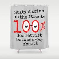math Shower Curtains featuring Math Geek by mailboxdisco