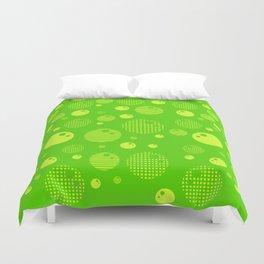 Bubblemagic - Lime Duvet Cover
