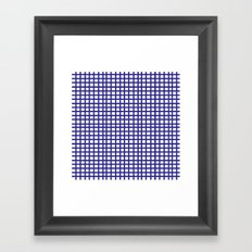 LINES in INDIGO Framed Art Print