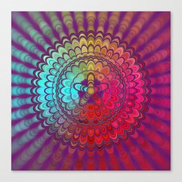 Mandala Flower Wheel Canvas Print