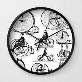 Velocipedes Wall Clock