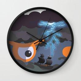 tempest at sight Wall Clock