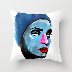 Woman's head Throw Pillow