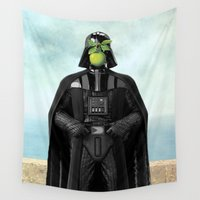 "luigi Wall Tapestries featuring Darth Vader in ""The Son of a Man"" by Magritte by Luigi Tarini"