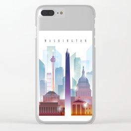 City of skyline, Washington DC, United States Clear iPhone Case