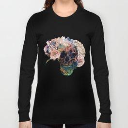 Skull Flowers - MidnightBlue Long Sleeve T-shirt